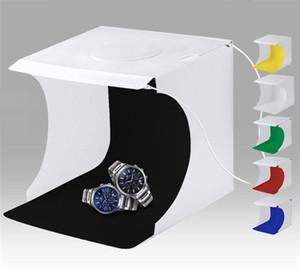 Mini Photo Studio Box Фотографии фона Встроенный двойной ряд светло-фото коробка маленькие предметы фотографии коробка студии аксессуары