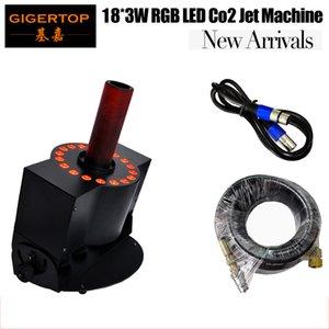 고품질 LED 18 X 3W CO2 제트 기계 색 LED CO2 제트 단계 DMX CO2 제트 기계 90V-240V 무대 장비 효과 조명