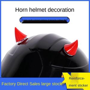 aLFyp demone personalità Harley auto moto casco corno ventosa motociclo veicolo elettrico angolo decorazione veicolo elettrico sveglio piccolo t