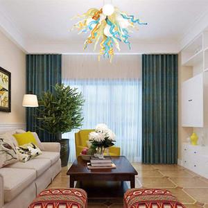 """İskandinav LED Cam Kolye Işık kristal avize Mutfak Süspansiyon Işık Fikstür yatak odasında ev dekorasyon asılı çok renkli 20"""" aydınlatma"""
