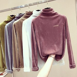 Sweaters Women Turtleneck Tops Jumper Female Solid Color Embroidery Letters Pullovers Loose Casual Soft Knitted Clothes