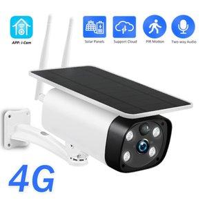 Solar 3G 1080P 4G Camera WIFI SIM Card Outdoor Wireless Camera bateria recarregável de 2MP HD Vigilância Áudio