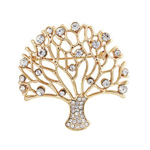 Strass Leben Vermögen Baum übertrieben und elegant Persönlichkeit Mode Trendsetter Brosche