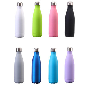 Tumblers Cola Shape Mugs Stainless Steel Double Wall Water Bottle Vacuum Insulated Tumblers Cups Portable Sports Kettle Sea Shipping LSK783