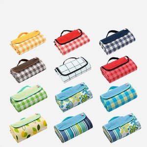 Picnic Blanket Plaid Foldable Outdoor Mat Pad Waterproof Portable Beach Mat Hiking Camping Blanket Extra Large Sand Proof Carpet DHE1065