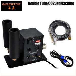 Gigertop Double tuyau Stade CO2 machine commutable DMX Control CO2 Colonne JET 6MEter Gaz Tuyau de gaz LED ÉLASSION CO2 Dispositif de concert de CO2 90V / 240V