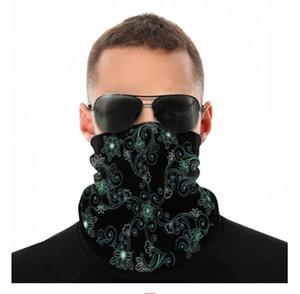 Rave Yüz Dikişsiz Bandana Toz Rüzgar UV Güneş Boyun tozluk Tüp Maske Şapkalar Motosiklet Bisiklet Binme Headbands Running Maskesi