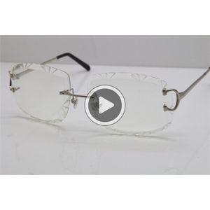 Frete grátis New homens sem aro T8200762 Unisex Óculos óculos sier armação de metal ouro Óculos óculos de condução óculos C Decoração ouro