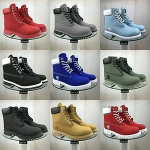 Le travail des hommes Bottes 2020 Mode Outdoor Steel Toe Chaussures vache Toe en acier en cuir Hommes Anti Slip Puncture Chaussures de sécurité Preuve de démarrage ManMX190907 # 220