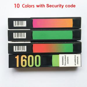 Puff XXL 10 Цветов Vape Pen Одноразовые Vape Device E Сигареты с кодом безопасности Высокое качество только обновлен слойный поток