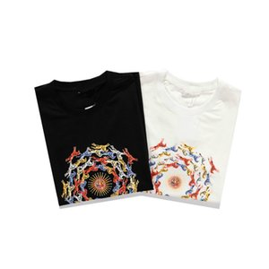 New Arrivals Men's Shirt Stylist Tshirt Grace Printed T Shirts Men and Women Short Sleeve Solid Color Top Quality Tees 2 Colors S-2XL