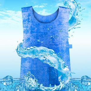 2Pcs Summer Cooling Vest Heat Pissipation PVA Waterproof Vest Work Vests for High Temperature Protective Blue