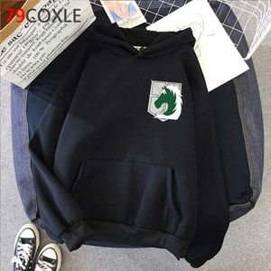 Japanese Anime Attack on Titan Winter Autumn Warm Harajuku Eren Graphic Hoody Levi hoodies men Ulzzang Oversized male clothing 2020