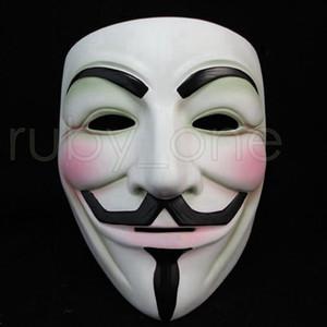 Beyaz V Parti Dikmeler Vendetta Anonim Film Guy Maskeler RRA3557 Masquerade Eyeliner Cadılar Bayramı Tam Yüz Maskeleri Maske