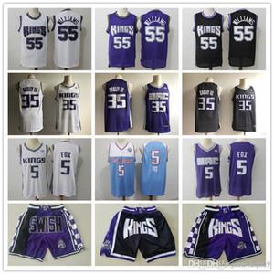 Mens SacramentoreyesRetroceso jerseys De'Aaron 5 Fox Marvin 35 Bagley III Jason Williams 55 Baloncesto baloncesto Jers Cortos