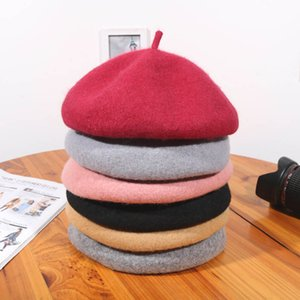 Q Women Berets Hat Retro Painter style 1Pcs Lady Girl Cap Winter Accessories Casual Vintage Wool