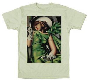 Tamara de Lempicka Jeune femme avec des gants (fille dans une robe verte) T-shirt anniversaire Hauts cadeau T-shirt