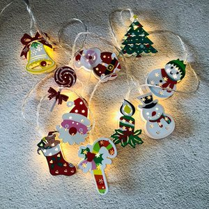 Christmas Tree Lamp String LED Santa Claus Lamp String Christmas Decoration Lights 1.65 Meters Fairy Light For Party