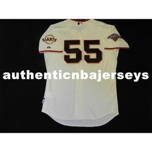 Günstige MAJESTIC SAN FRANCISCO 55 Tim Lincecum COOL BASE Jersey Mens genähtes RARE Großhandel groß und hoch Größe XS-6XL Baseball-Shirts