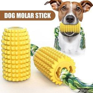 Newest Dog Toy Dog Molar Stick Puppy Toys Dog Corn Molar Stick Bite Teeth Brush Labrador Toys with Rope Pet Supply