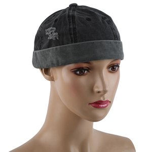 Brimless Skullies Uomo Autunno Cotone Cap Retro urbano unico Via Docker cappelli multiuso Miki Beanie Hat