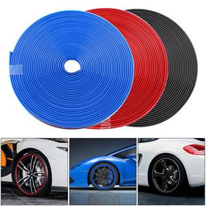 8M PVC Auto-Rad-Schutz-Hub-Aufkleber Felgenschutz Gummistreifen Anti Scraping Auto Auto dekoratives Styling für 13 ~ 22 Zoll Reifen