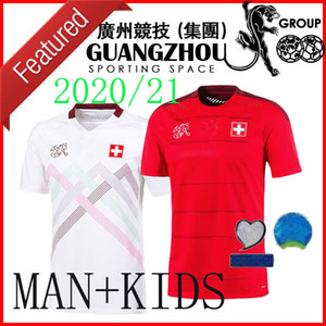 2020 Switzerland Home Kids Soccer Jerseys Away White 20 21 Red Suiza Akanji Zakaria Rodriguez Elvedi National Team Camisetas de fútbol DSD