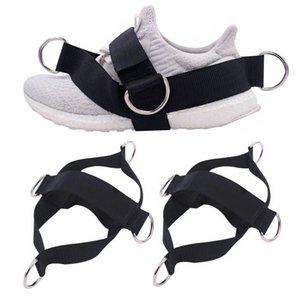 4 D Rings cierre de tiras para máquinas de cable y bandas de resistencia de las mujeres / hombres Tamaños Glute Pierna Banda de entrenamiento aptitud que estira