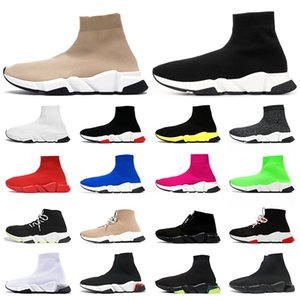 2020 calzino scarpe tripler vintage étoile donna uomo scarpe casual speed trainer nero giallo bianco calzini firmati di lusso stivali sneakers