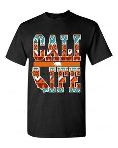 New Fashion Brand T Shirts Cali Life Indian Pattern T Shirt Native State Bear Dream Catcher California Tee Print Tee Shirts