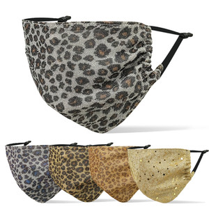 fashion face mask designer face masks luxury Leopard print facemask men women hanging ear type breathable dustproof haze adult mask