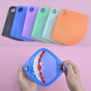 Silicone Natura piatto Maschera Storage Box maschera di ritaglio temporaneo antipolvere a prova di inquinamento Sicurezza Mask Holder Borse Artifact