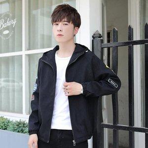 Pop2019 Bahar Erkek ler Kore Trend Hatta Şapka Ceket Gençler Zaman Kişilik İnce Yakışıklı Gevşek Joker Coat Soğuk
