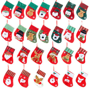 Christmas Sock Pendant Merry Christmas Gifts Storage Stockings Kids Bedside Candy Bags Home Tree Xmas Home Party Decor Sock 26 style choose