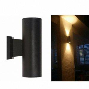 COB-LED Wall Lamp Waterproof Up Down Dual-Head Outdoor Wall Fixture(Warm White) X6Fe#
