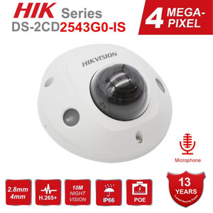 Hikvision 4MP Dome CCTV IP Camera POE DS-2CD2543G0-IS 4MP IR Network Security Night Version Camera H.265 with SD Card Slot IP 67