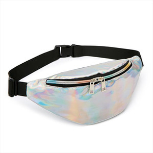 2019 Women Fanny Pack Punk Leg Bag Reflective Laser Shoulder Bag Womens Belt Waist Bag Pochete Women Waist Pack