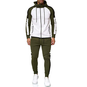 2020 Autumn Winter Mens Fashion Tracksuit Clothes Set Male Casual Sportswear Man Hoodies and Pants Sweatsuit 2 Piece Set Gym