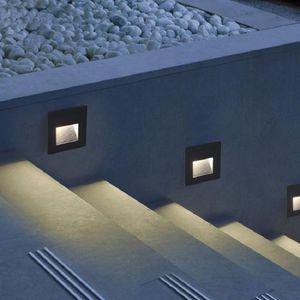 Deck Passo del LED 15Leds IP65 impermeabile Lampada sotterraneo incasso Stair Paitio Piano Terra Garden Wall all'aperto Paesaggio