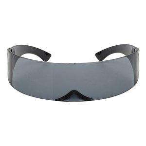 Engraçado futurista espelhado Single Lens Visor Cosplay Mulheres Homens Partido Óculos Eye for Boys