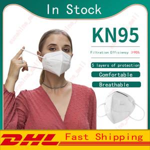 KN95 Маска высокого качества Пылезащитно дышащий 95% Фильтр маска Многоразовый 5 Слой Анти пыли Дизайнер маска Рот маски Бесплатная доставка DHL