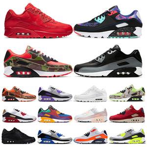 air max 90 Laufschuhe für Herren Infrarot International Flag Pack dreifach weiß schwarz ESSENTIAL Laser Pink Bred Sport-Sneaker für Damen Größe 36-45