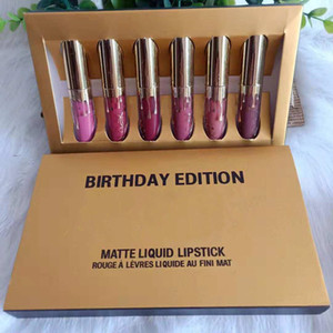 Dropshipping marque populaires Nouvelles Maquillage MINI Rouge à lèvres Lip Collection Matte liquide de 6pcs / set Gloss
