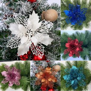 Рождественский цветок Рождественского зеленый лук порошок с выдолбленным цветком елкой венка орнаментом без листьев T500189