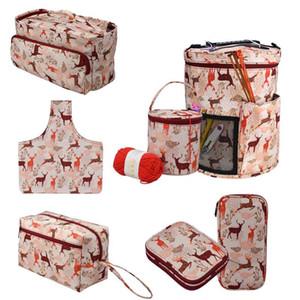 7 Стили Шерсть сумка для хранения Жираф вязания сумки Бытовая крючком Вязание Иглы для шитья инструмента Органайзер для Рождественский подарок