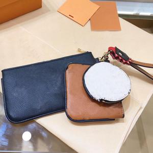 Ключеник Портмоне маджонг сумка Мода Три Piece Set Лоскутная Старый цветок L Письмо Zipper Женщины бумажники высокого качества Бесплатная доставка
