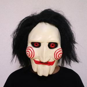 Las máscaras de látex película de Saw matanza de látex espeluznante de Halloween de regalos llena de miedo máscara Suministros Apoyos unisex del partido de Cosplay