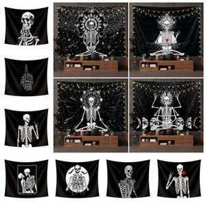 만성 장식 인쇄 식탁보 요가 매트 비치 타올 파티 바 배경으로 FFA4428 매달려 해골 태피스트리 Euramerican 패션 폴리 에스테르 벽
