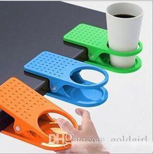 Creative Space Saving Deskside Drinklip Büro-Tabellen-Schreibtisch-Becherhalter-Klipp-förderndes Geschenk-Artikel