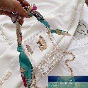 Transparent Bag Female Korean Ribbon New Fashion Ins Web Celebrity Acrylic Ribbon Shoulder Portable Messenger Bag